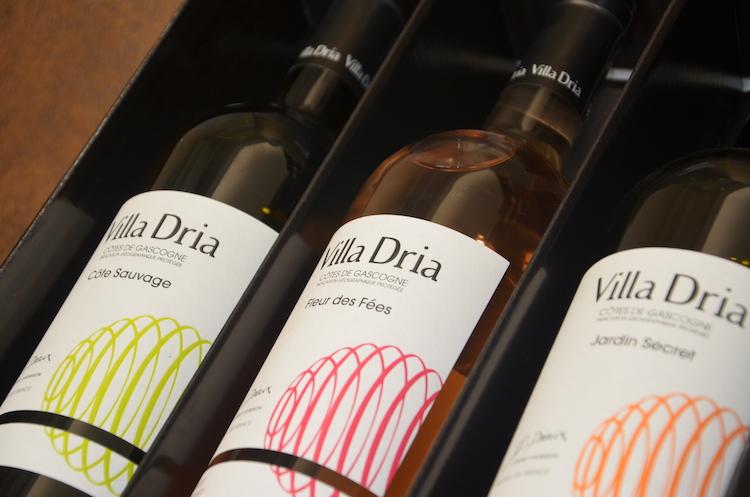 coffret des 3 meilleurs cuvés des vins côtes de Gascogne de Villa Dria