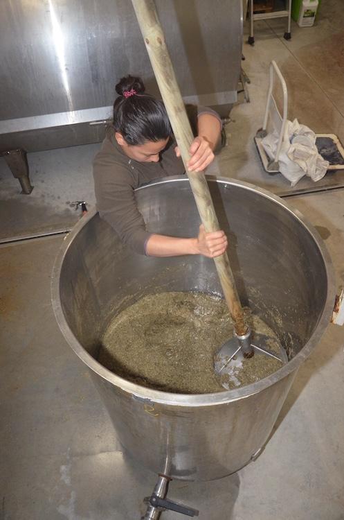 sarah fait un mélange de prêle