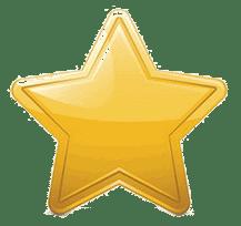 une étoile or